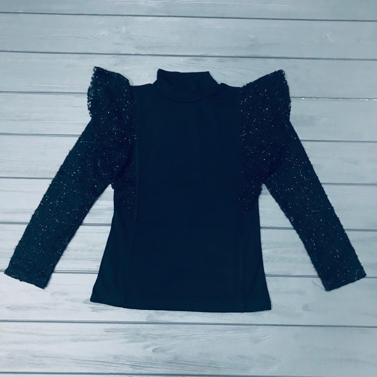 Блуза нарядная синяя Little Star для девочек оптом р.6-10-12 лет