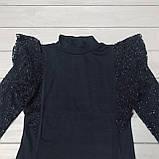 Блуза нарядная синяя Little Star для девочек оптом р.6-10-12 лет, фото 2