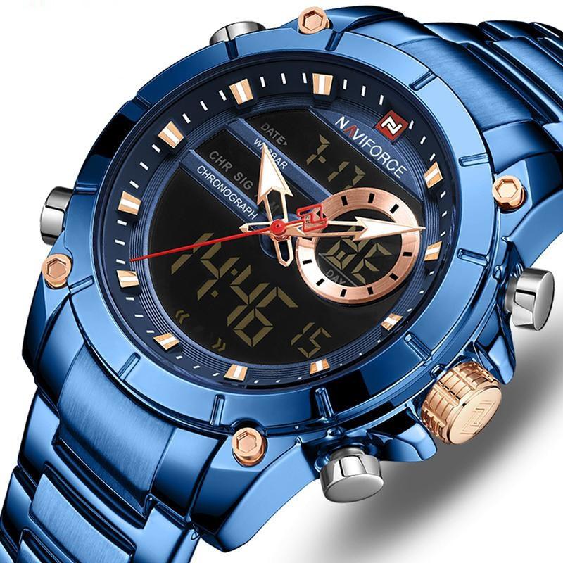 Мужские часы Naviforce 9163 (blue-black)