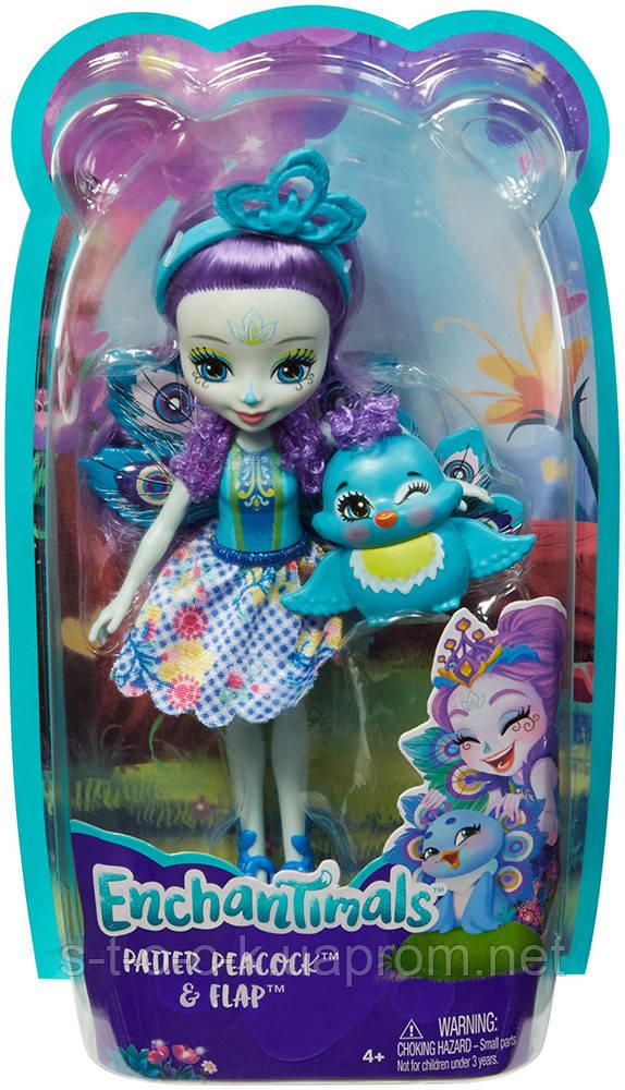 Mattel Enchantimals FXM74 Кукла Пэттер Павлина, 15 см
