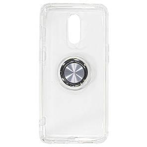 ➻Силиконовый чехол C-KU SM01 для смартфона OnePlus 7 White магнитный держатель прозрачный накладка-подставка, фото 2