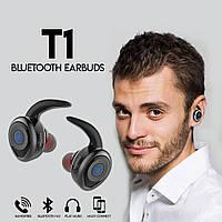 Блютуз наушники Stereo Bluetooth Headset Awei T1 Sport Black