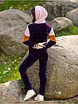 Молодежный костюм спортивный ткань велюр вязка, фото 3