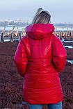 Женская зимняя двухсторонняя оригинальная куртка ЗЕФИРКА - ORIGINAL (3расцв).48-58р., фото 4