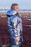 Женская зимняя двухсторонняя оригинальная куртка ЗЕФИРКА - ORIGINAL (3расцв).48-58р., фото 7