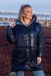 Женская зимняя двухсторонняя оригинальная куртка ЗЕФИРКА - ORIGINAL (3расцв).48-58р., фото 9
