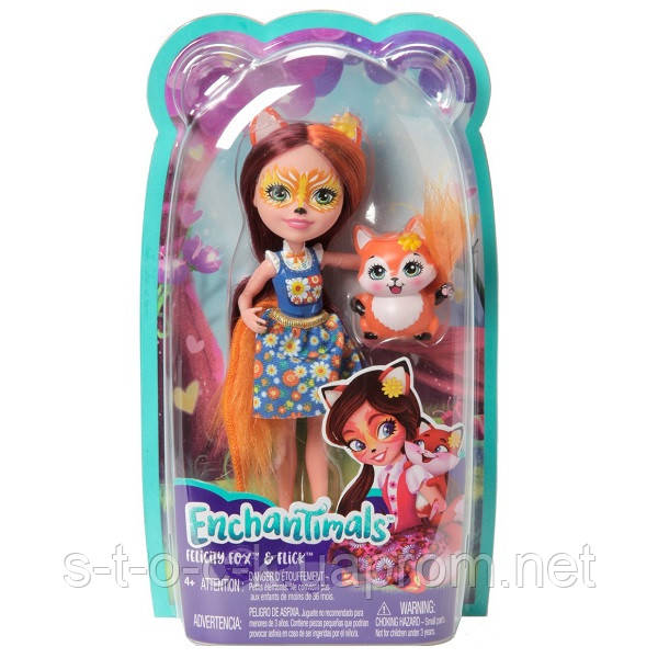 Кукла с питомцем Лисичка Фелисити Mattel Enchantimals FXM71