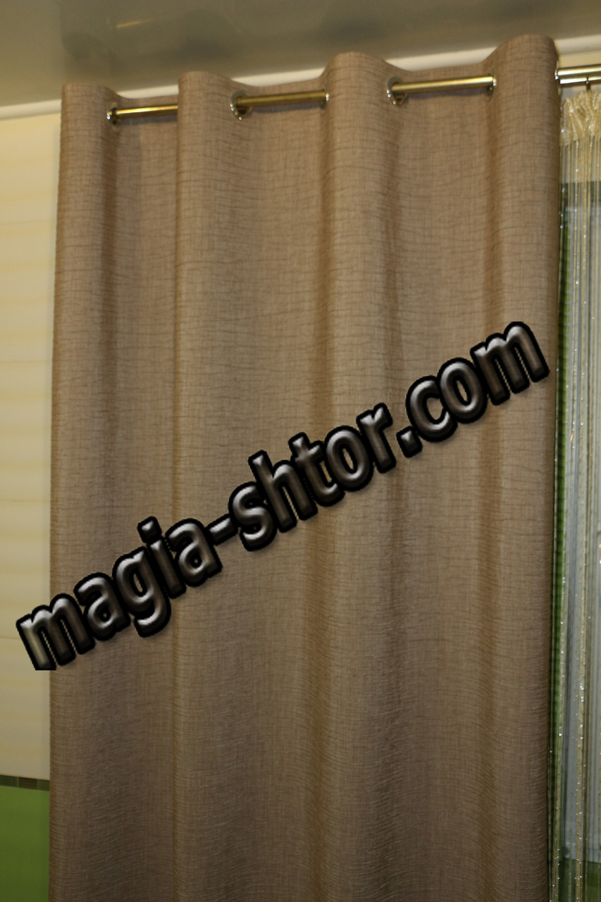 Готовые шторы на люверсах. Ткань жатка. Турция