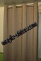 Готовые шторы на люверсах. Ткань жатка. Турция, фото 1