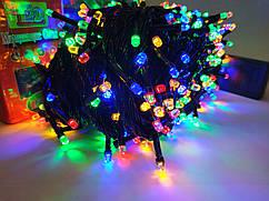 Гирлянда новогодняя Рубин(Точка, Кристалл) светодиодная LED 100 лампочек, 5mm