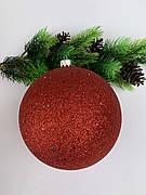 Ялинкова куля. Великий новорічний куля на ялинку ( червоний)
