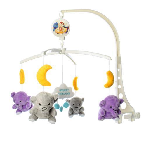 Заводная детская карусель XQT701-2-3-5 с плюшевыми игрушками подвесками