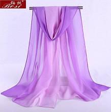 Женский сиреневый шарф - 150*50см, шифоновый