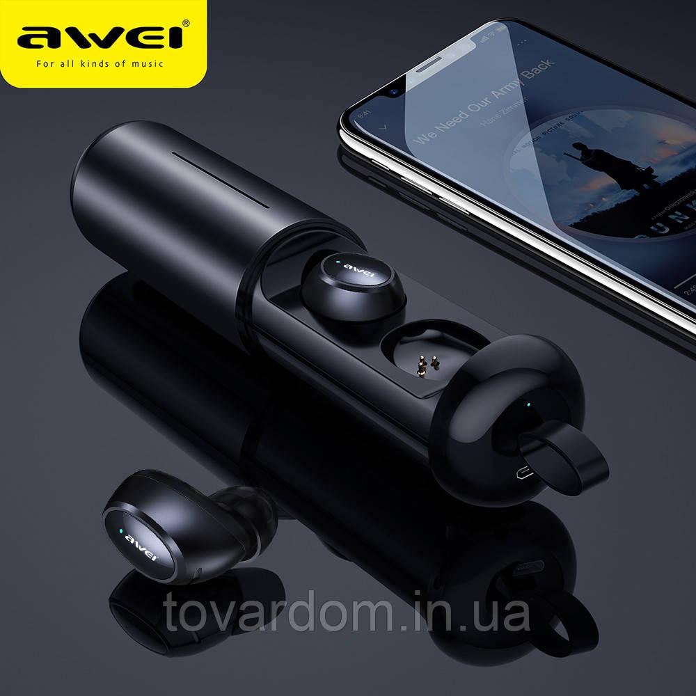 Блютуз наушники Stereo Bluetooth Headset Awei T5 Sport Black