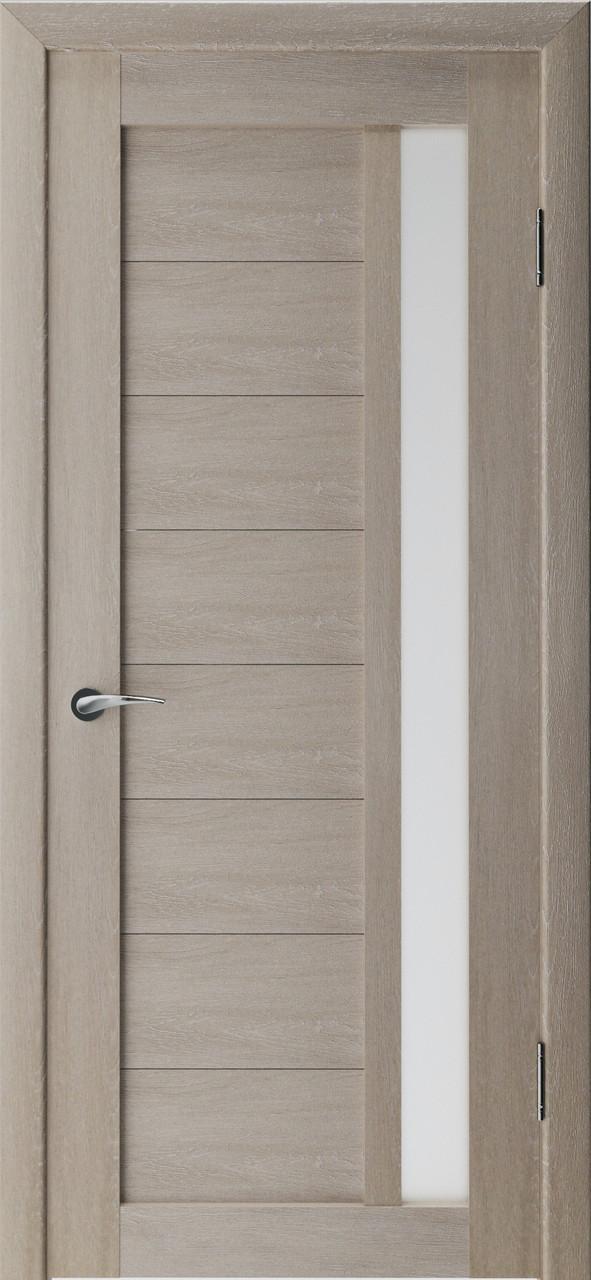 Міжкімнатні двері Неман  зі склом АНТИК Н-21, дуб грей
