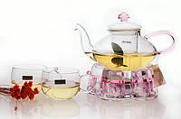 """Стеклянный чайник  заварник """"CHI KAO"""" 500 мл CK-002AC"""