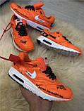 Кроссовки мужские Nike AIR MAX 1 D4962 оранжевые, фото 5