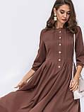 Повседневное платье в пол с  рукавом три четверти и расклешенной юбкой, фото 5