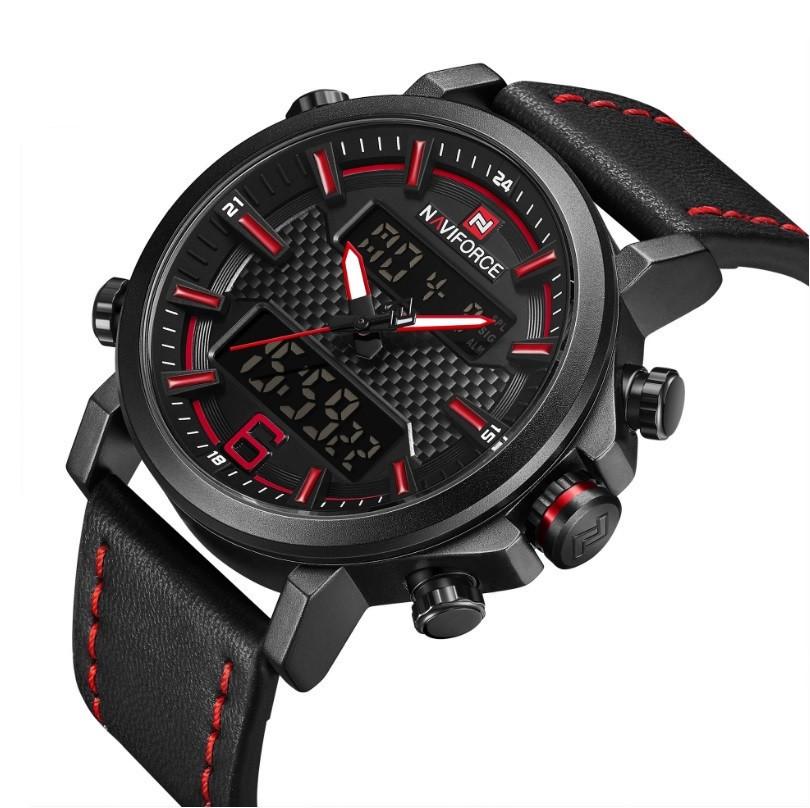 Мужские часы Naviforce 9135 (black-red)