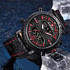 Мужские часы Naviforce 9135 (black-red), фото 5