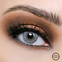 Цветные контактные линзы Freshlook Colorblends светло-серые без диоптрий