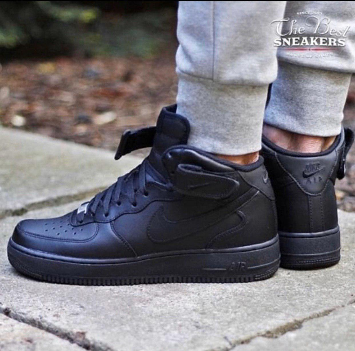 Кроссовки мужские Nike Air Force D4329 черные