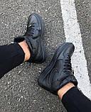Кроссовки мужские Nike Air Force D4329 черные, фото 2