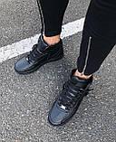Кроссовки мужские Nike Air Force D4329 черные, фото 3