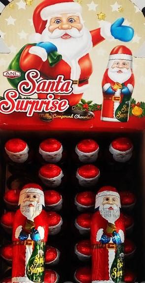 Шоколадный дед мороз + сюрприз игрушка внутри 38 грамм