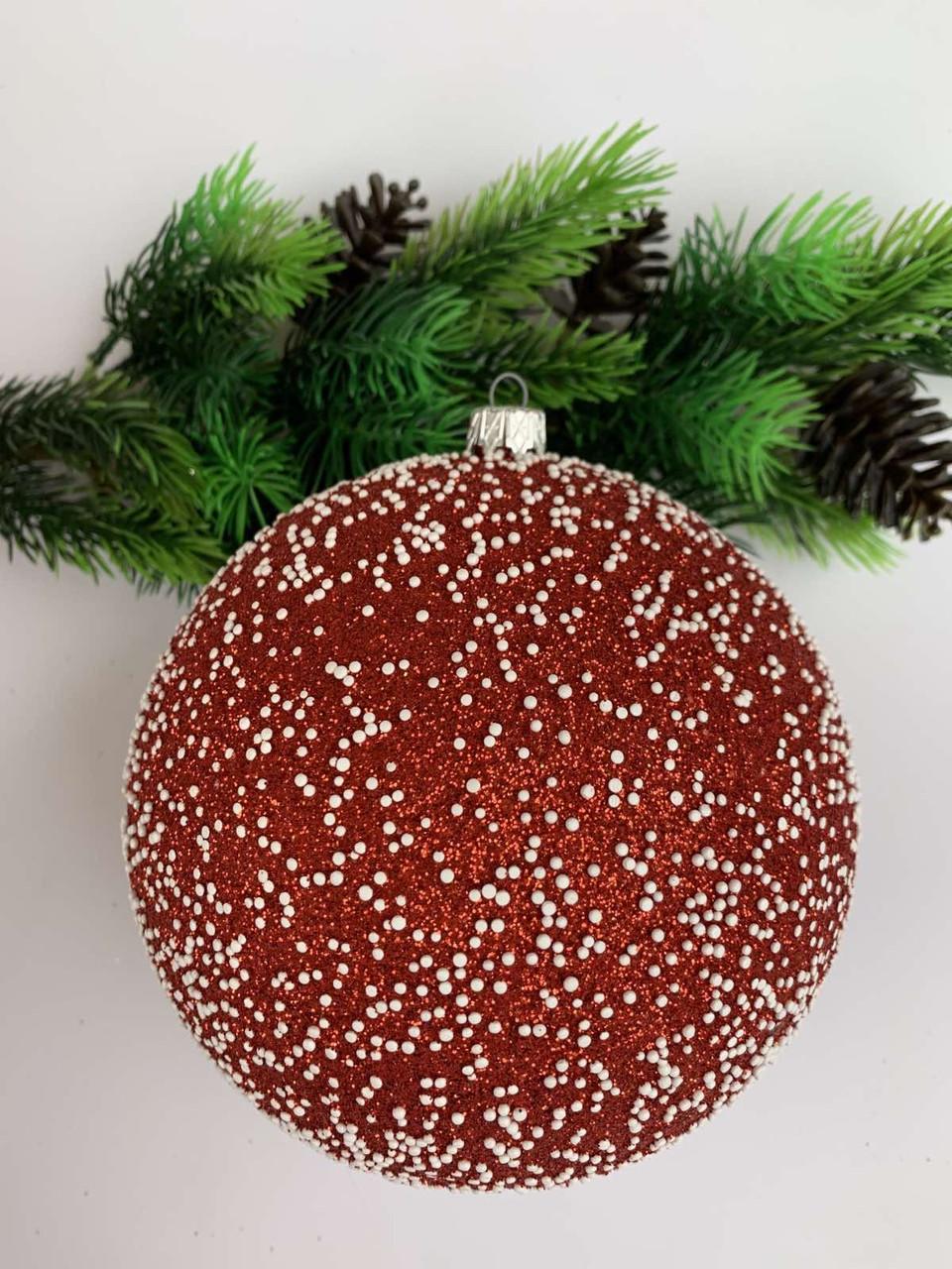 Елочный шар. Большой, новогодний елочный шар(15 см)