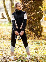 Молодежный спортивный женский костюм утепленный