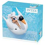 Пляжный Надувной Плотик Intex 56287 Лебедь, фото 2