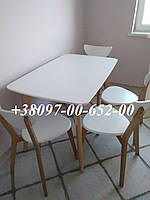 Кухонный Комплект Стол +4 Стула Модерн Т Бук с Белым не раскладной., фото 1
