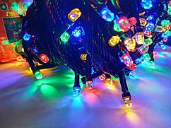 Гирлянда новогодняя Рубин(Точка, Кристалл) светодиодная LED 200 лампочек
