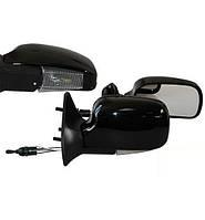 Зеркала ВАЗ 2109/2108/2115/21099 черные с повторителем Vitol ЗБ 3109П BLACK/LED