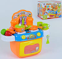 Игровая кухня для детей оранжевая, свет и звук, фото 1