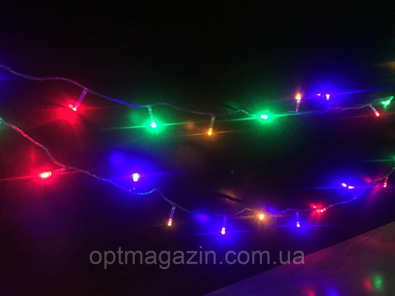 Гирлянда разноцветная 40метров 700 ламп