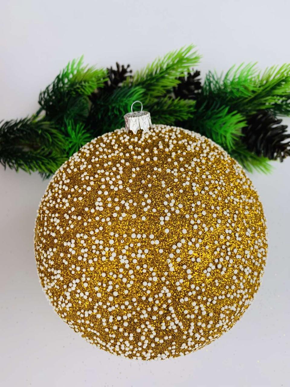 Елочный шар.Большой новогодний шар на елку(15 см)