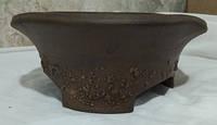 Цветочный горшок из глины растянутый дымленый