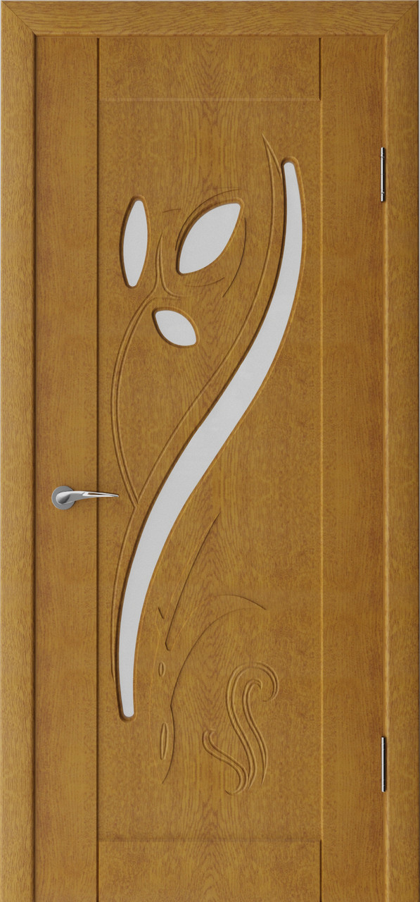 Міжкімнатні двері Неман зі склом  ТЮЛЬПАН 3D Н-24 дуб золотий