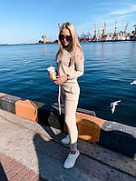 Женский зимний спортивный костюм из ангоры, кофта гольф, пояс брюк на резинке и затяжки (42-46)