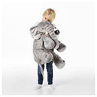 ЙЭТТЕСТОР Мягкая игрушка,Слон, серый.ДЬЮНГЕЛЬСКОГ , 70373591, ИКЕА, IKEA, DJUNGELSK