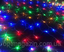 Гірлянда сітка різнобарвна шнур силіконовий 1.5 м, фото 2
