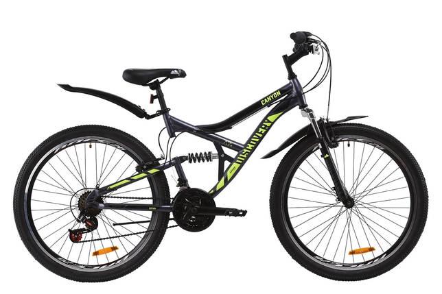 """Велосипед ST 26"""" Discovery CANYON AM2 Vbr с крылом Pl 2020 (серо-желтый (м)), фото 2"""