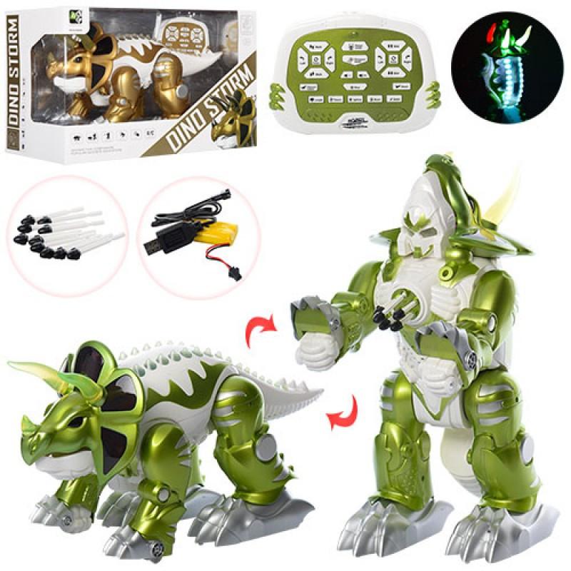 Трансформер динозавр 42 см на радиоуправлении ходит, подвижные части, звуковые и световые эффекты, KD-8828AB