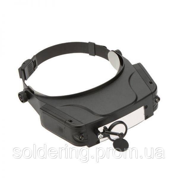 Бинокулярная лупа Magnifier 81007-C, увел.- 1.5X-11Х с Led