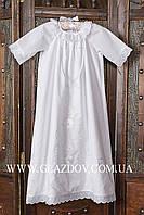 Рубашечка для крещения с вышивкой белой гладью АРТ 41-30