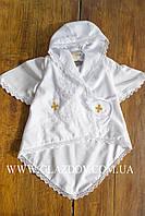 Рубашечка-халатик для крещения с золотистыми крестиками АРТ 41-08(1)