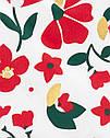 """Нарядное платье для девочки Carter's (США) белое с красным """"Цветы"""" 12 мес/72-78 см, фото 2"""