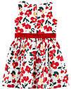 """Нарядное платье для девочки Carter's (США) белое с красным """"Цветы"""" 12 мес/72-78 см, фото 3"""